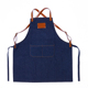 Custom logo fashion restaurant cafe baking overalls adult denim apron