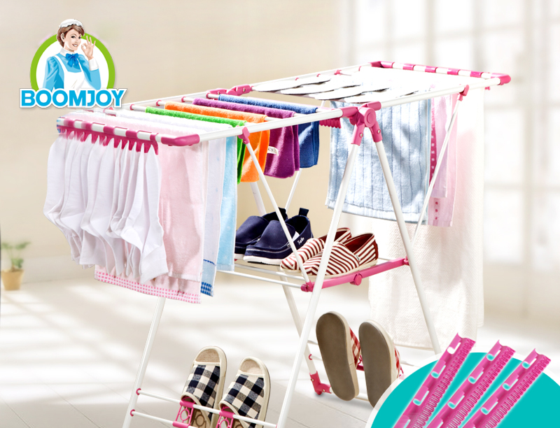 Foldable 2 layers Clothes air dryer, mental material cloth drying rack, Clothes hanger