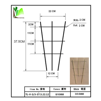 high quality bamboo trellis- bamboo plant support