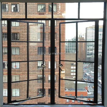 Modern Simple Iron Window Grill Design Carbon Steel Window With Warm