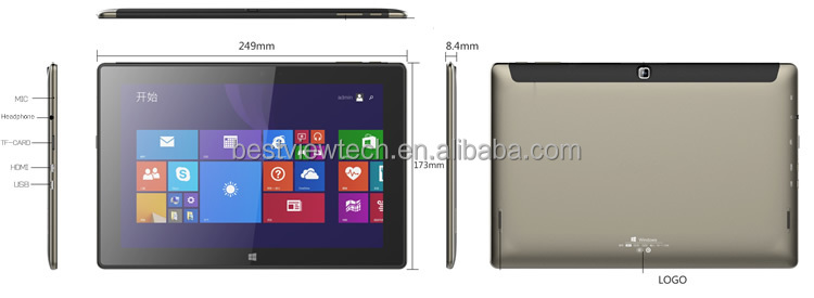Cheapest 10.1 tablet pc quad core for windows 10 inch tablet z8350/z8300