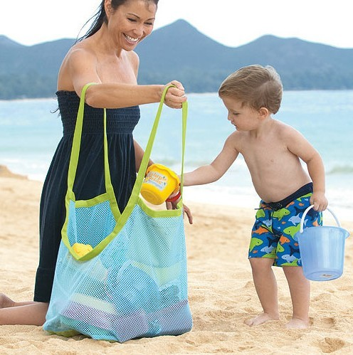Promo Waterproof Outdoor beach tote bag Foldable Mesh beach bag