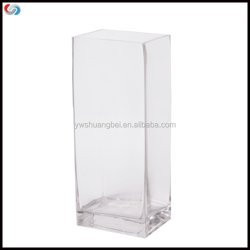 Crystal Tall Clear Square Glass Vase Handmade Buy Glass Vase