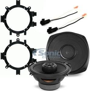 "Polk Audio DXi521 Speaker Install Kit for 1999-02 Chevy/GMC Trucks 5-1/4"" DXi Series 2-way Car Speakers, Marine Certified for Boats/ATV/Motorcycles w/ Adapter & Harness for Chevy/GMC Trucks"