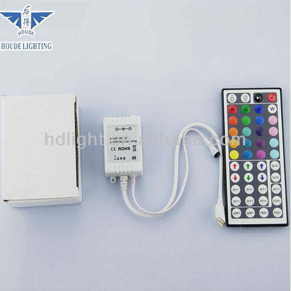 Popular Decoration WHOLESALE PRICE OEM&HOUDE IR Remote Controlled SMD5630 RGB LED Strip Light with 44Key IR Remote Controller