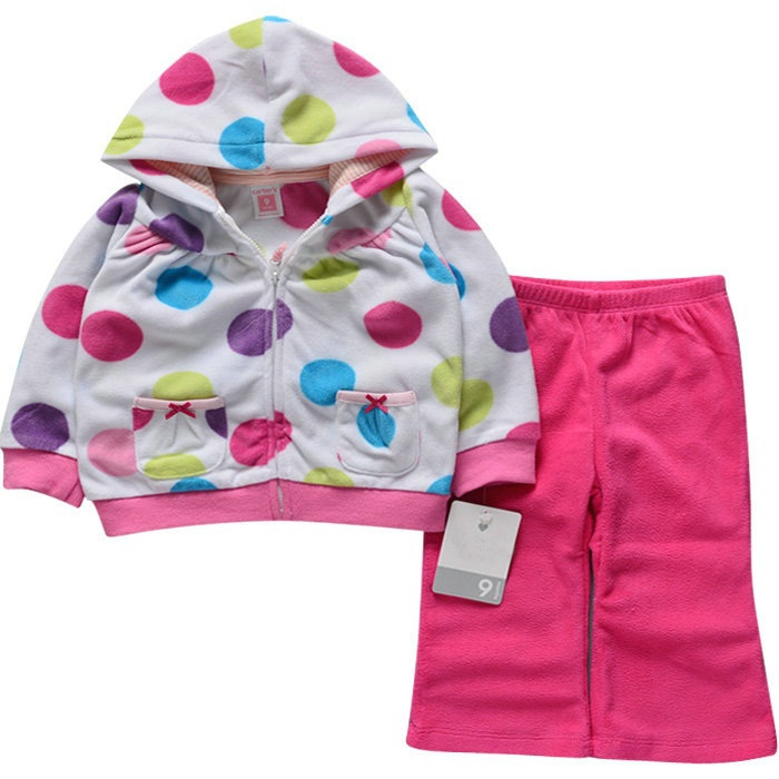 f455026e3b81 Buy Fashion Winter Baby Girls Kids Princess Polka Dot Coat Fleece ...