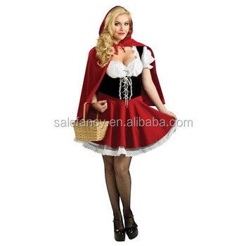 Little Red Riding Hood Ladies Costume Fancy Dress Hens Party Halloween Costume QAWC-3298