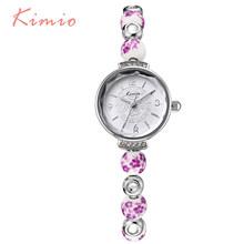 Женские керамические часы KIMIO, винтажные часы синего и белого цвета из фарфора с красивым узором(Китай)