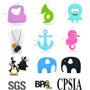 China Manufacturer BPA Free Food Grade Soft Teether Silicone Baby Chewable Beads For Kids