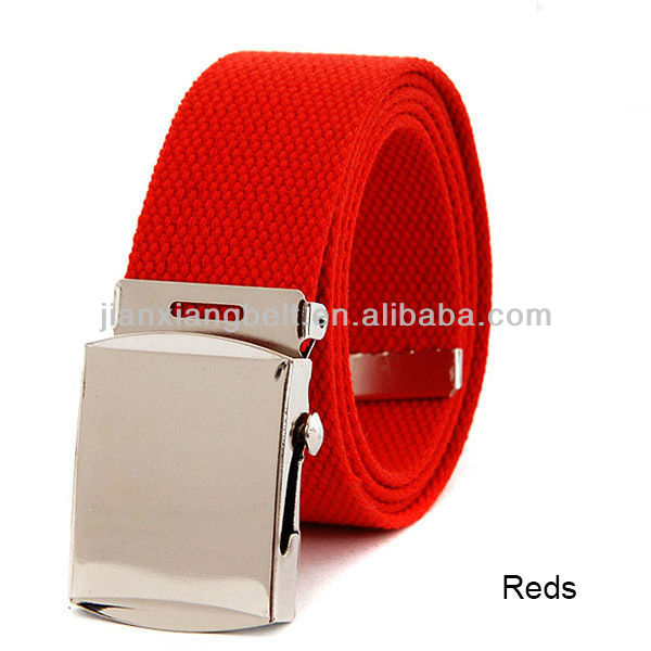 2013 fashionable unisex belt good quality cotton fabric knitted belt