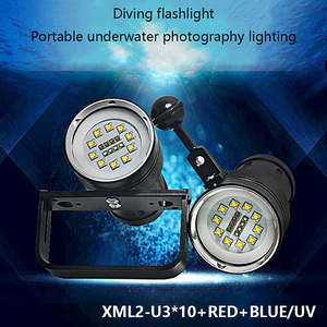 Patent factory Genuine Original High Quality 10000 lumens diving video light, diving strobe light, profesional diving torch