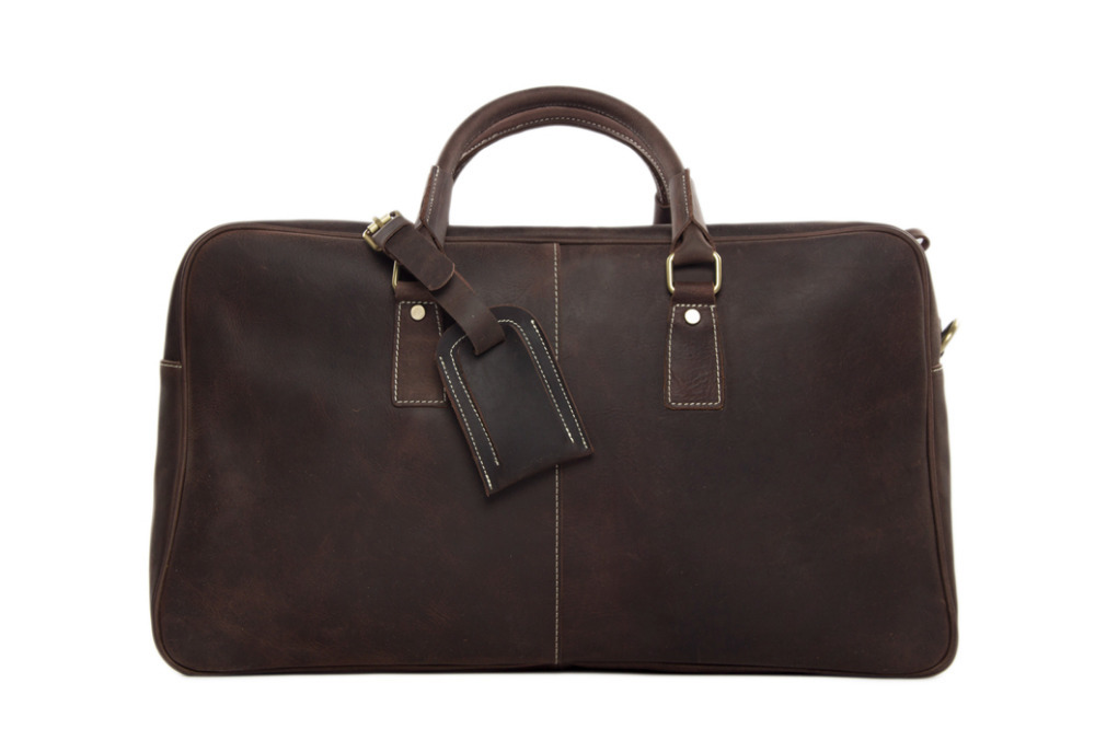 2015 Hotsale Duffle Bag Large Capacity Genuine Leather Travel Bag Vintage Leather Briefcase Men Leather Handbag 7156