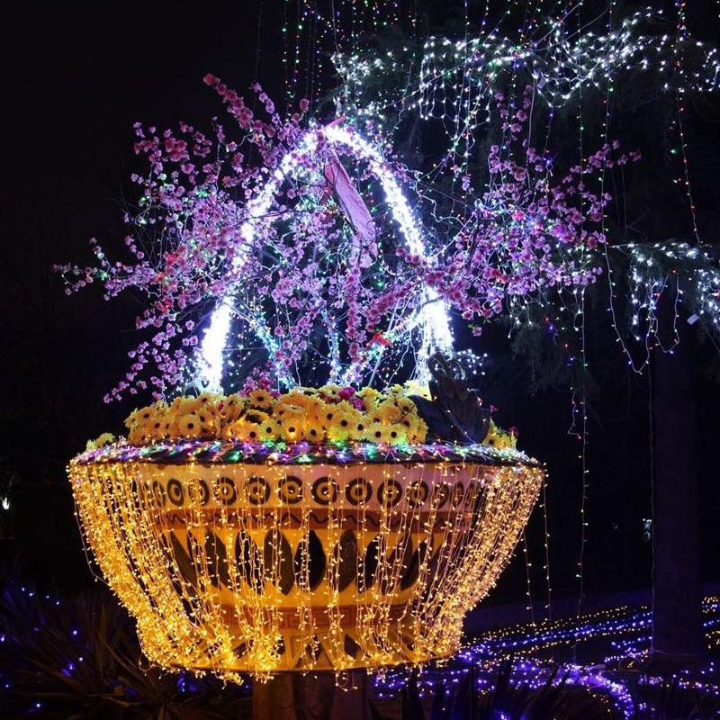 Backyard Twinkle Lights: 50M 400 LED String Lighting Wedding Fairy Christmas Lights