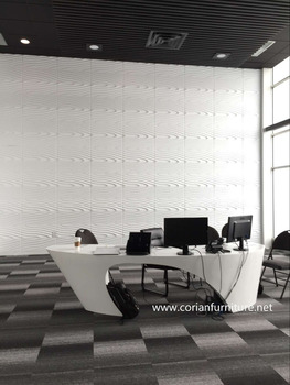 Corian Furniture Solid Surface Office Desk New Design