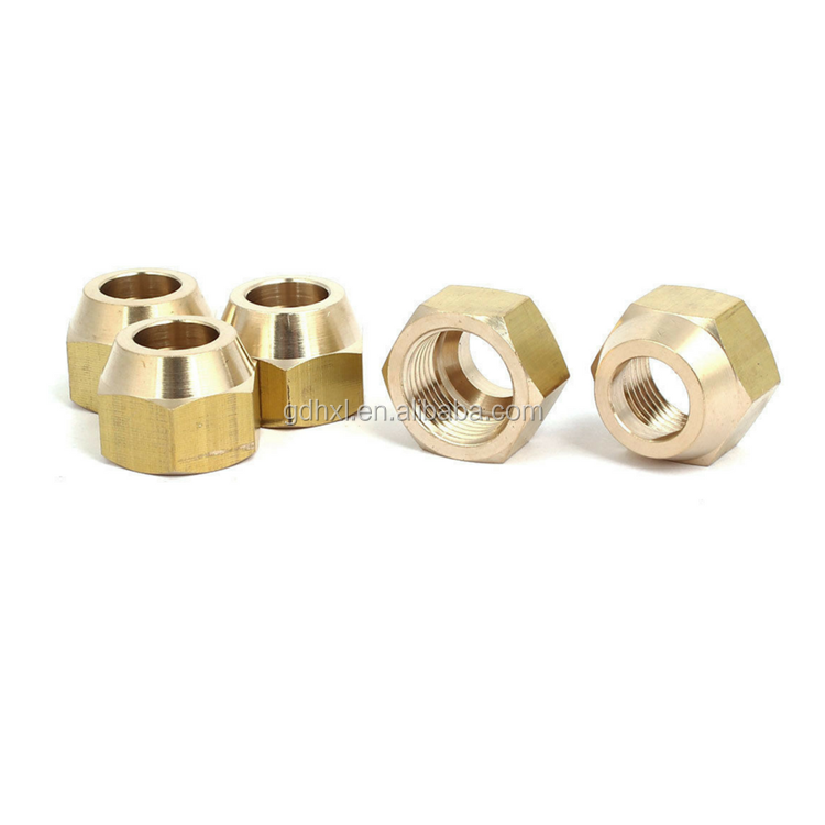 custom brass forged flare nut
