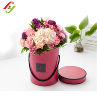 High quality cardboard boxes for roses packaging, rose box,flower box with hot stamping logo