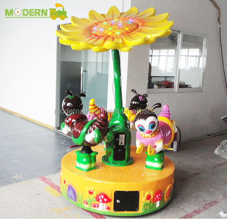 Outdoor China top quality playground merry go round attraction happy swing carousel