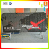 crowd control mesh pvc vinyl fabric barricade barrier jacket cover custom barrier banner