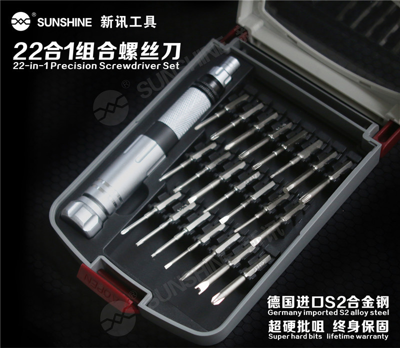 High Quality 22 In 1 Aluminum Retractable Magnetic Screwdriver Set