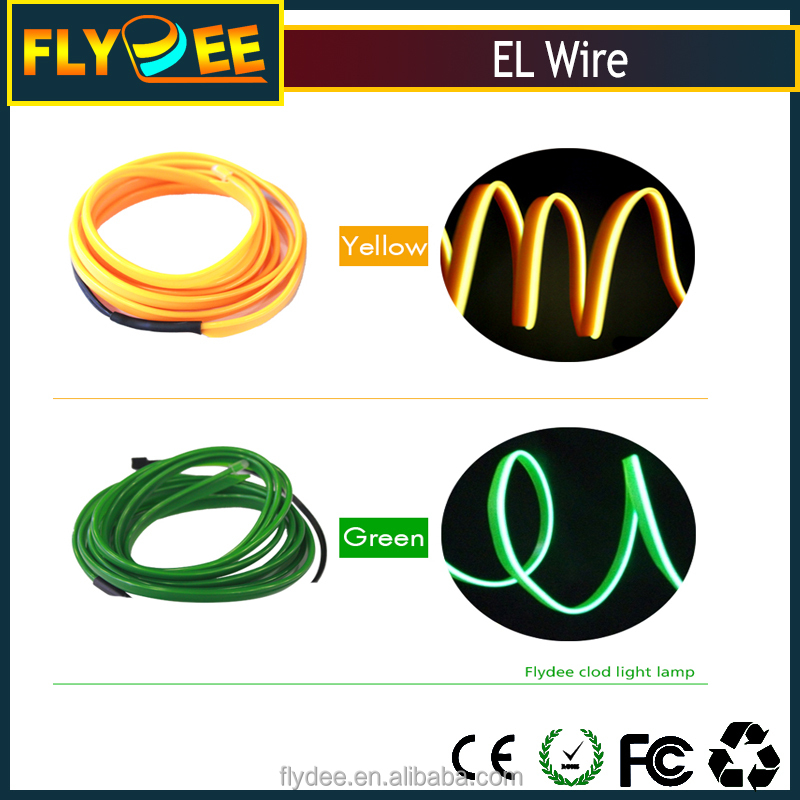 10 Colors Lighting LED EL Wire With Diameter 2.3mm For Christmas