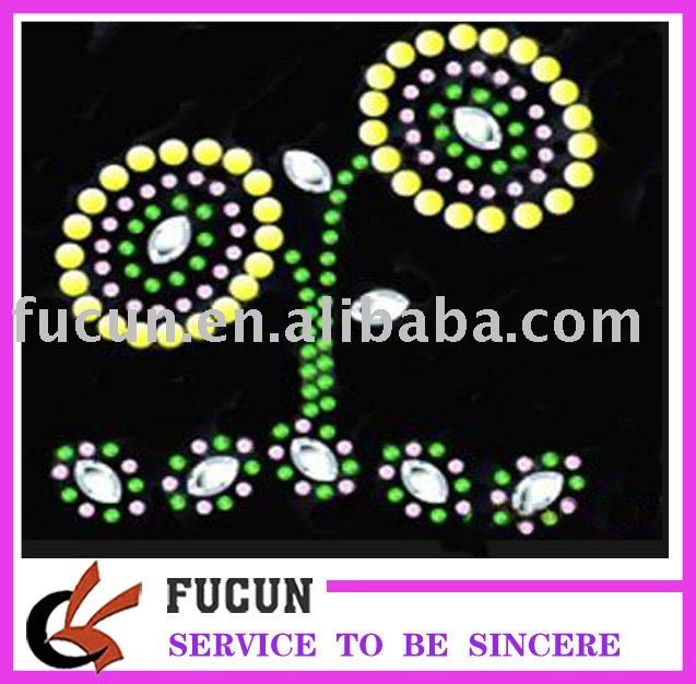 hot fix rhinestone motif