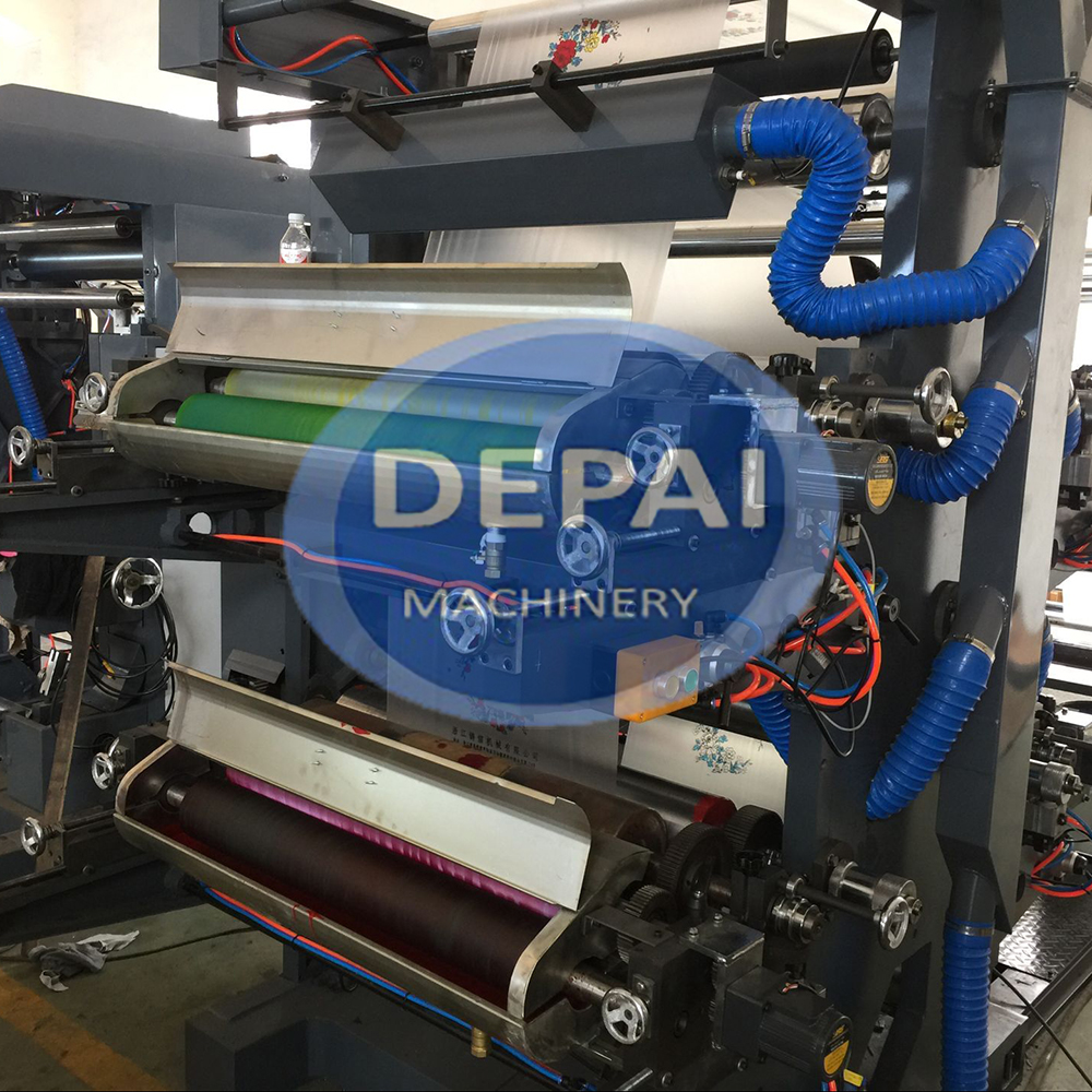 DEPAI 2 Colors Flexographic Printing Machine For Plastic Bag