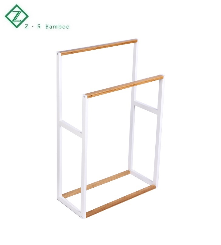 Stand Towel Rack Clothing Wooden Ladder