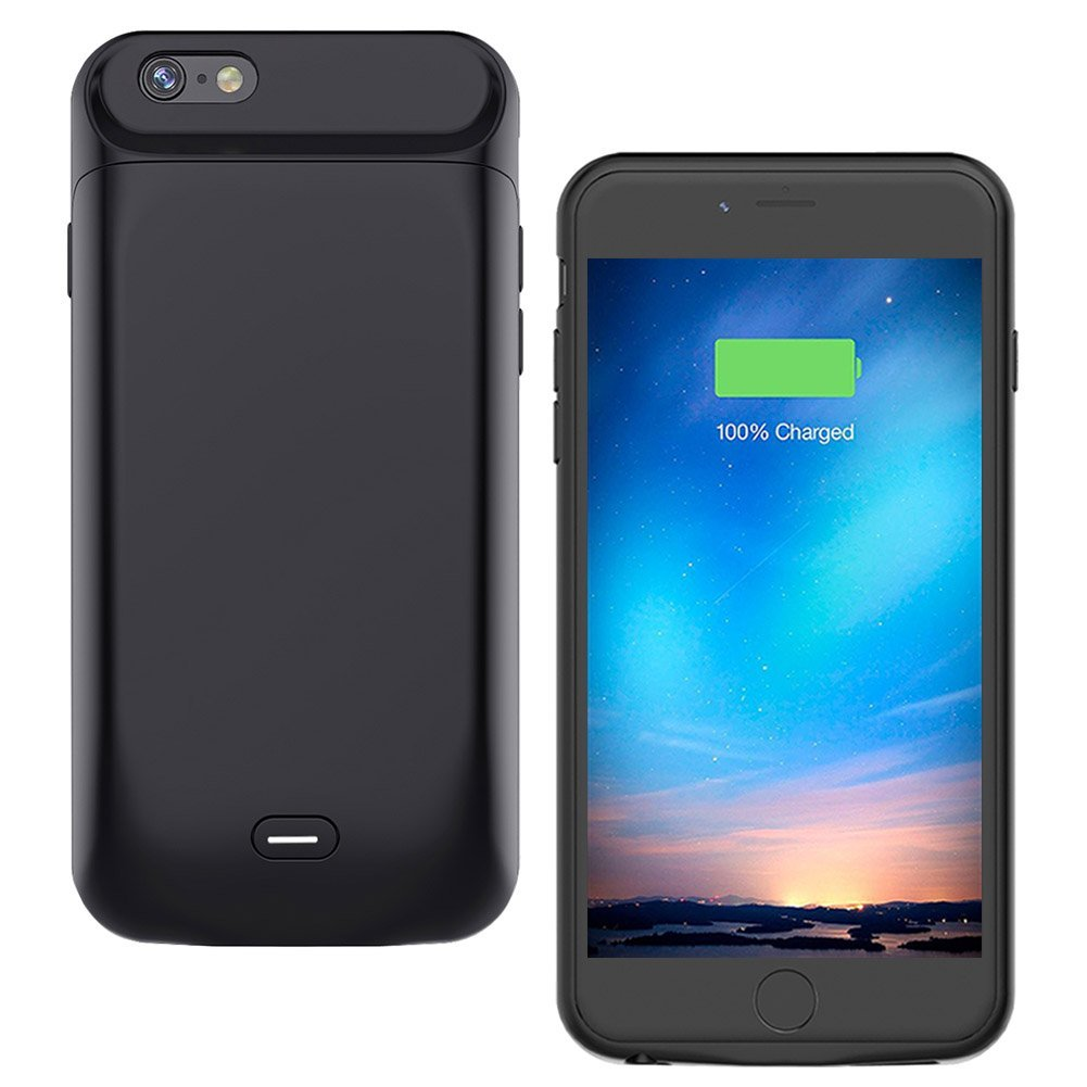 iPhone 8/7 Battery Case, MAXBEAR [5000mAh] Rechargeable External Battery Portable Enhance Extended Power Charger Protective Charging Case for iPhone 8/iPhone 7 (4.7 Inch)