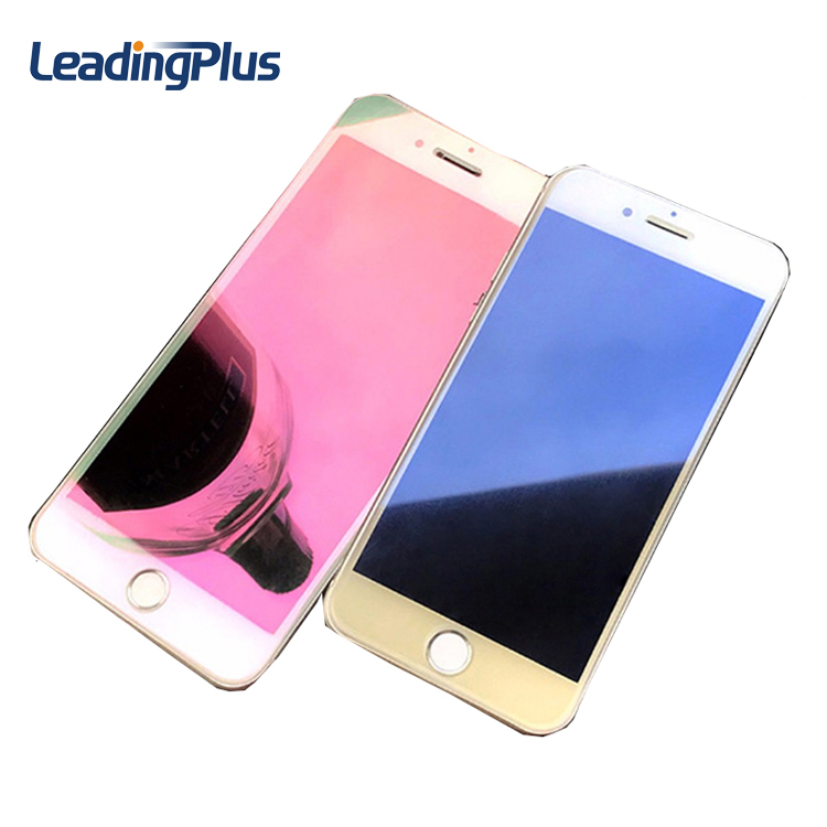 Hot Mirror effect color screen protector for iPhone 7, for iphone 7 mirror electroplated tempered glass screen protector