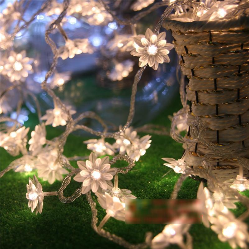 10M 100LED Lotus Flower String Lights Christmas Decoration Garland LED