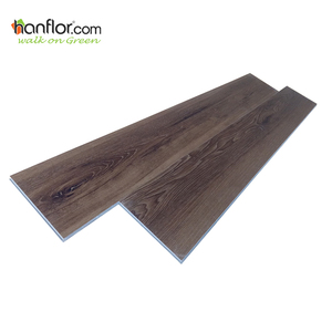 Commercial Use Easy Maintenance Anti Fire PVC Wood Flooring Click