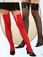 vinyl top fishnet stockings