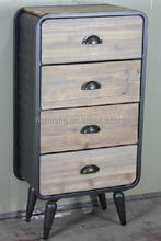 Antique Style Storage Cabinet, Grey side cabinet