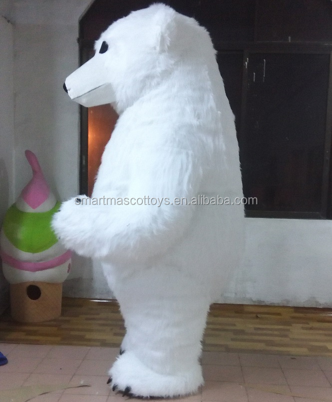 Giant inflatable mascot costume adult inflatable polar bear mascot costume