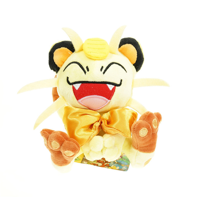 Best selling new arrival pp soft Meowth pocket monster stuffed toys