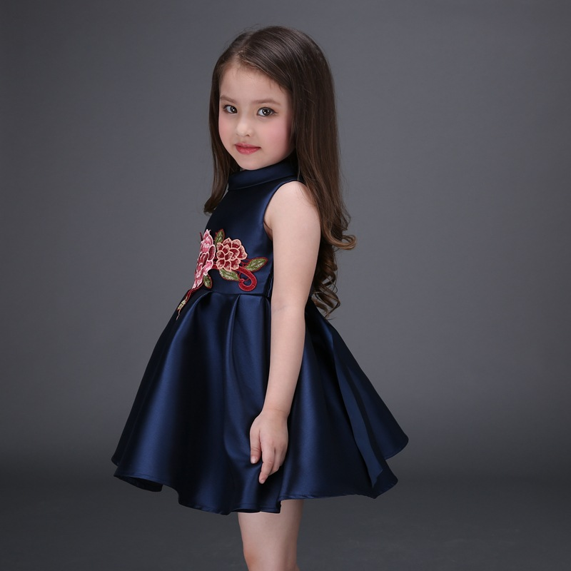 e4dba3325aa Detail Feedback Questions about 2016 Spring and Summer Girls Dress Chinese  style Flower Embroidered Princess Dress Baby Party Frocks Designs Boutique  ...