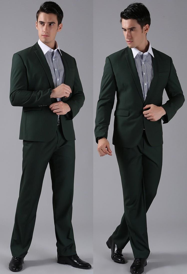 (Kurtki + Spodnie) 2016 Nowych Mężczyzna Garnitury Slim Fit Niestandardowe Garnitury Smokingi Marka Moda Bridegroon Biznes Suknia Ślubna Blazer H0285 66