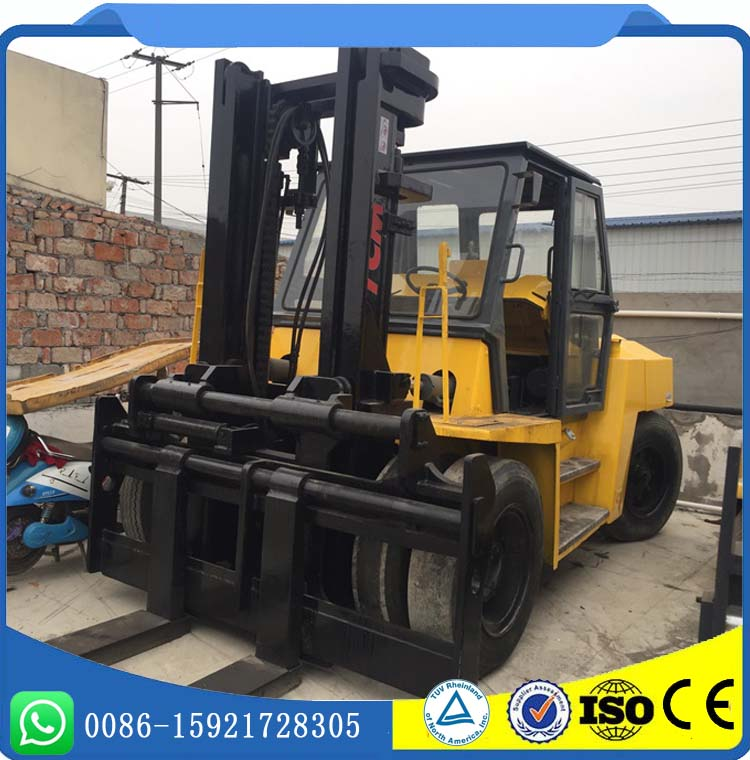 10 Ton FD100 Model Front Double Tire TCM Used Forklift Low Price