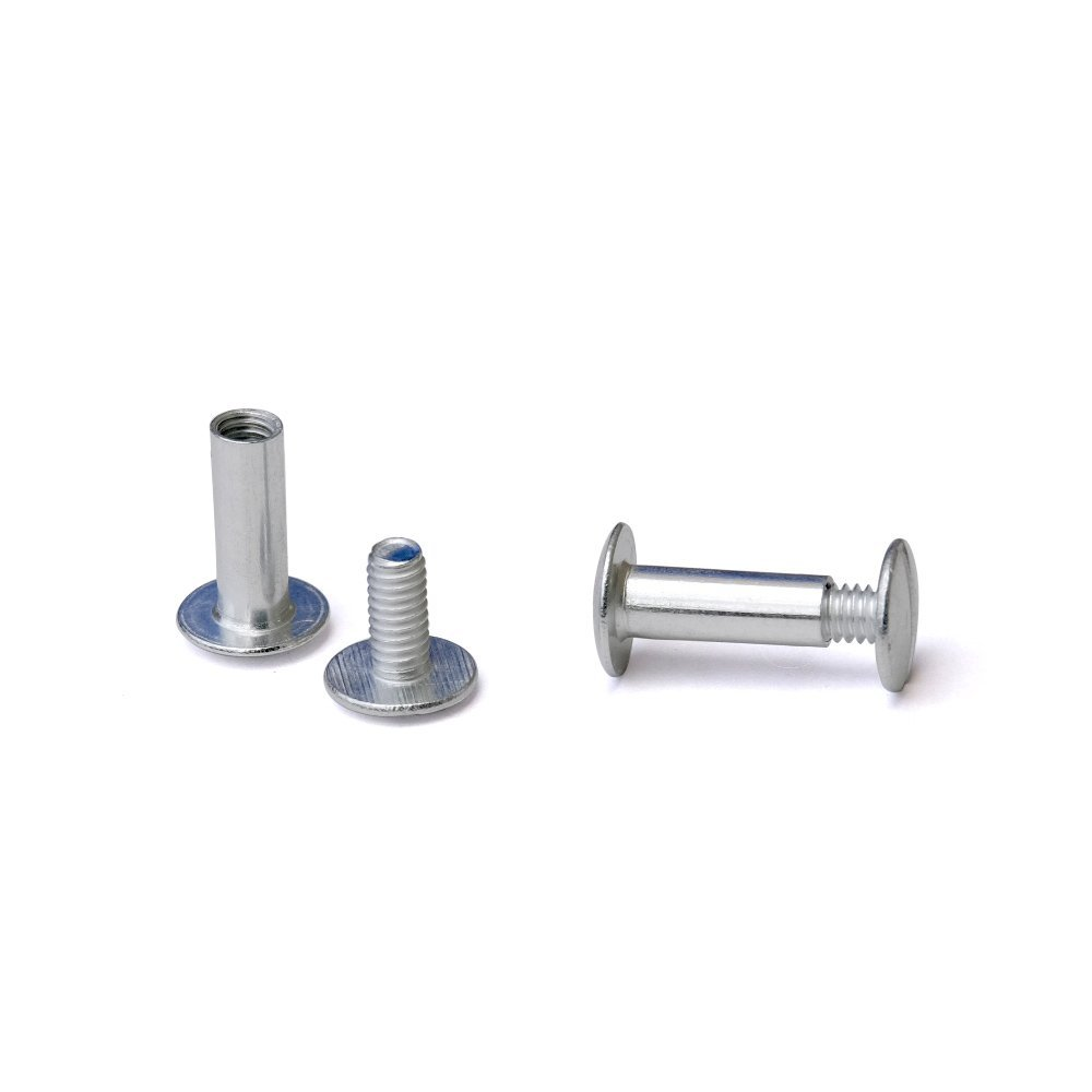 5/8 in. Aluminum Chicago Screws/Screw Posts (Qty 100 sets)