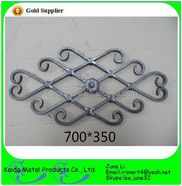 wrought iron rosette rivets for stair/gate