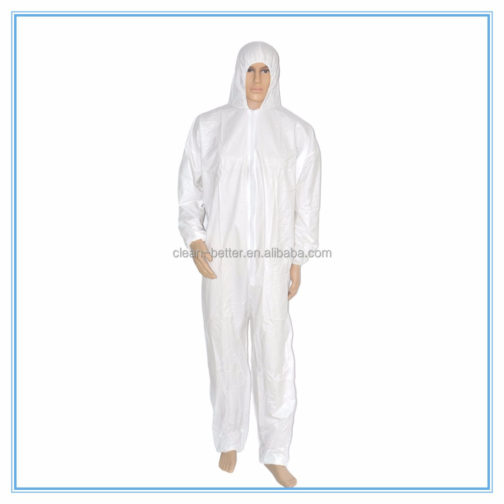 Waterproof microporous coverall suit anti dust protective body suit