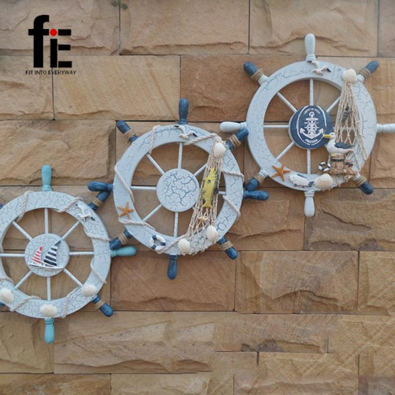 28CM Mediterranean Style Large Marine Rudder Wall <font><b>Decoration</b></font> Wood <font><b>Nautical</b></font>
