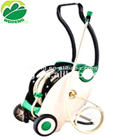 Garden auto/automatic water hose reel with wheels foot pedal rewind/retractable hose reel