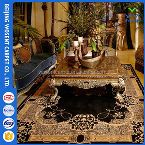 New floral design tufted rug 100% Chinese wool carpet