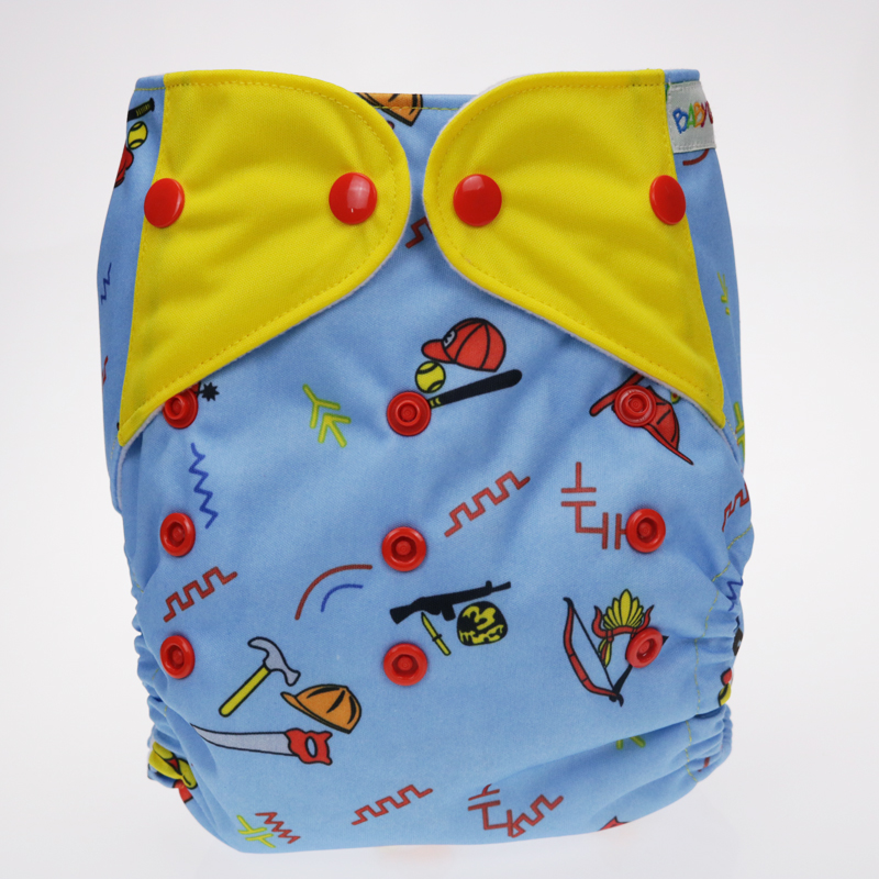 The baby cloth diapers for stitching wings New printing reasable pocket wholesale