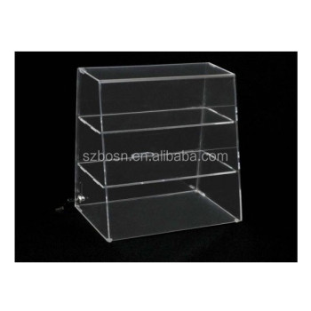 "High Quality Acrylic 16""H x 16""W Display Case, 1Or 2 Flat Shelf, Clear Back"