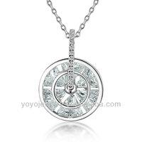 2014 custom wedding gold design 925 sterling silver necklace
