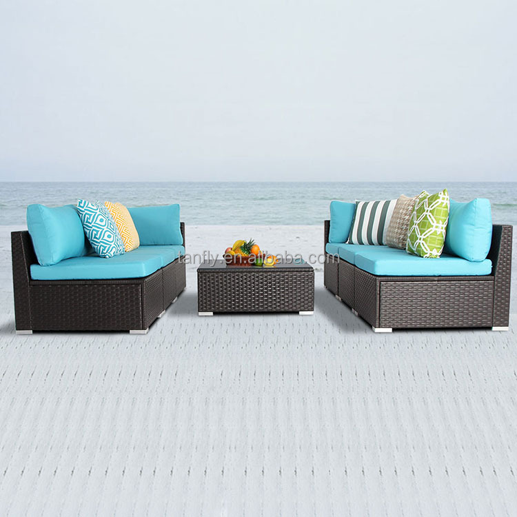 fancy outdoor patio cebu rattan furniture wicker sofa bed