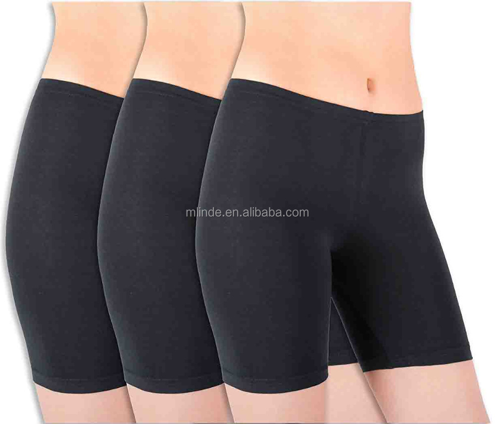Wholesale Women Sexy Basics Womens 3 Pack Sheer & Sexy Cotton Spandex Boyshort Yoga Bike Shorts