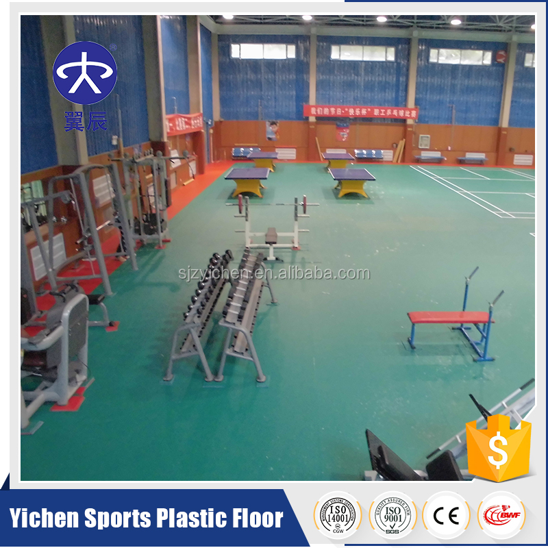 Discount Sporting pvc vinyl Gym Flooring